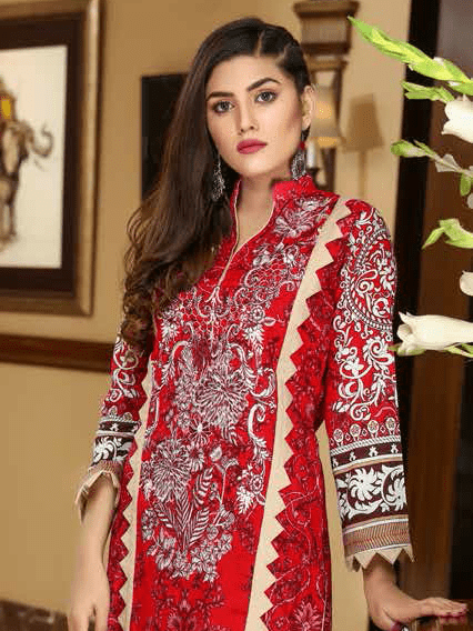 Yashfeen Premium Lawn 2019 Embroidered 3 Piece Suit YS-903/A - FaisalFabrics.pk