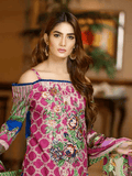 Yashfeen Premium Lawn 2019 Embroidered 3 Piece Suit YS-907/A - FaisalFabrics.pk