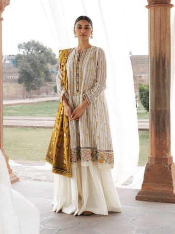 ZARA SHAHJAHAN Spring Summer Lawn 2020 3PC Suit ZR-01-A Zareen