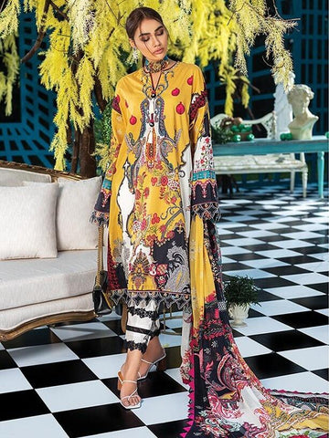 ZAHA Lawn Spring Summer 2020 3PC Embroidered Lawn Suit ZL20-01 Crina
