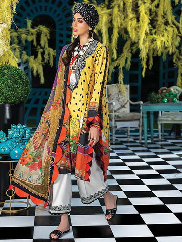 ZAHA Lawn Spring Summer 2020 3PC Embroidered Lawn Suit ZL20-03 Miriana