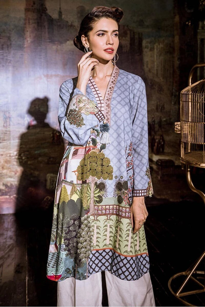Cross Stitch Linen Embroidered 2PC Suit PORTICO BLOOM Winter Collection'19