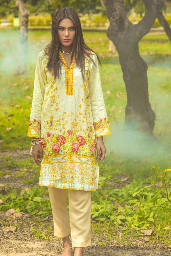 Alkaram studio Multicolour Digital Lawn Summer Fantasy 1-Piece Unstitched Shirt - DL06 - FaisalFabrics.pk
