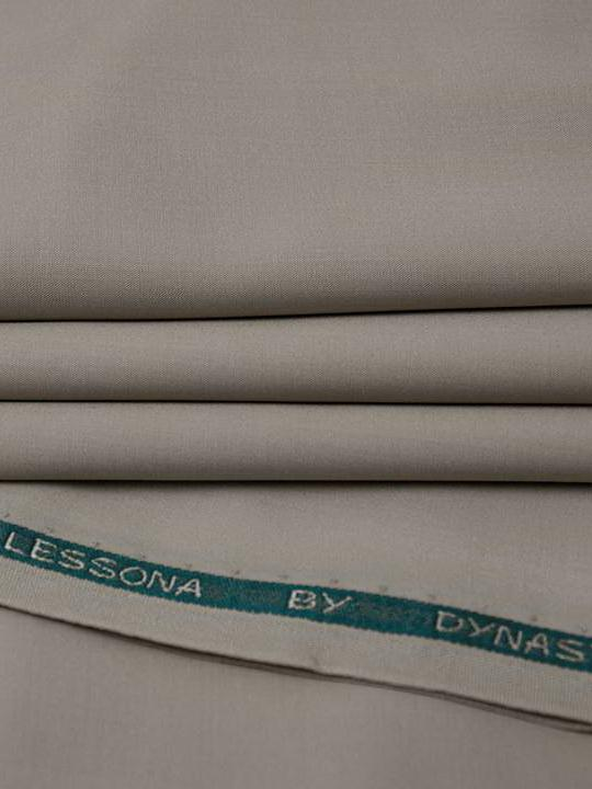 DYNASTY Lessona Wash & Wear Men's Unstitched Suit Khaki for Summer - FaisalFabrics.pk