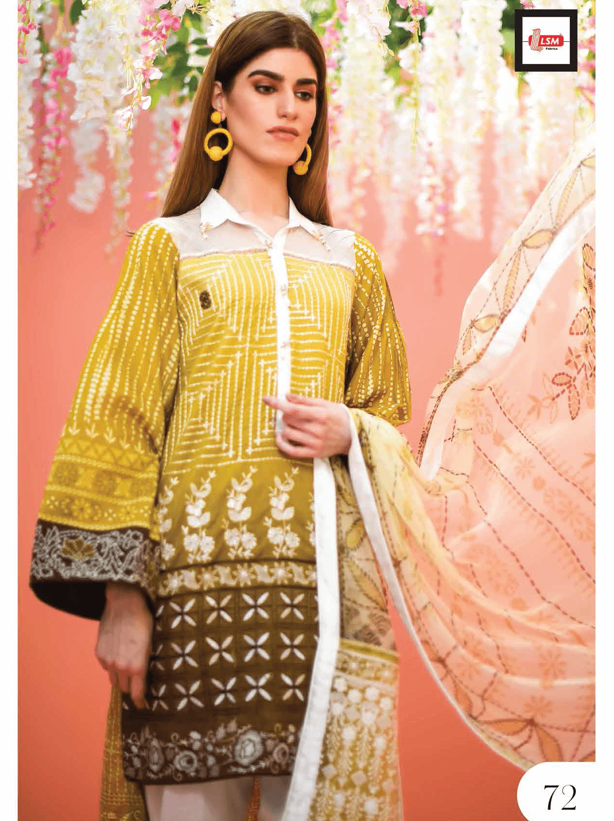 Lakhany Luxury Embroidered Lawn 2019 Unstitched 3PC Suit LTD 001 - FaisalFabrics.pk