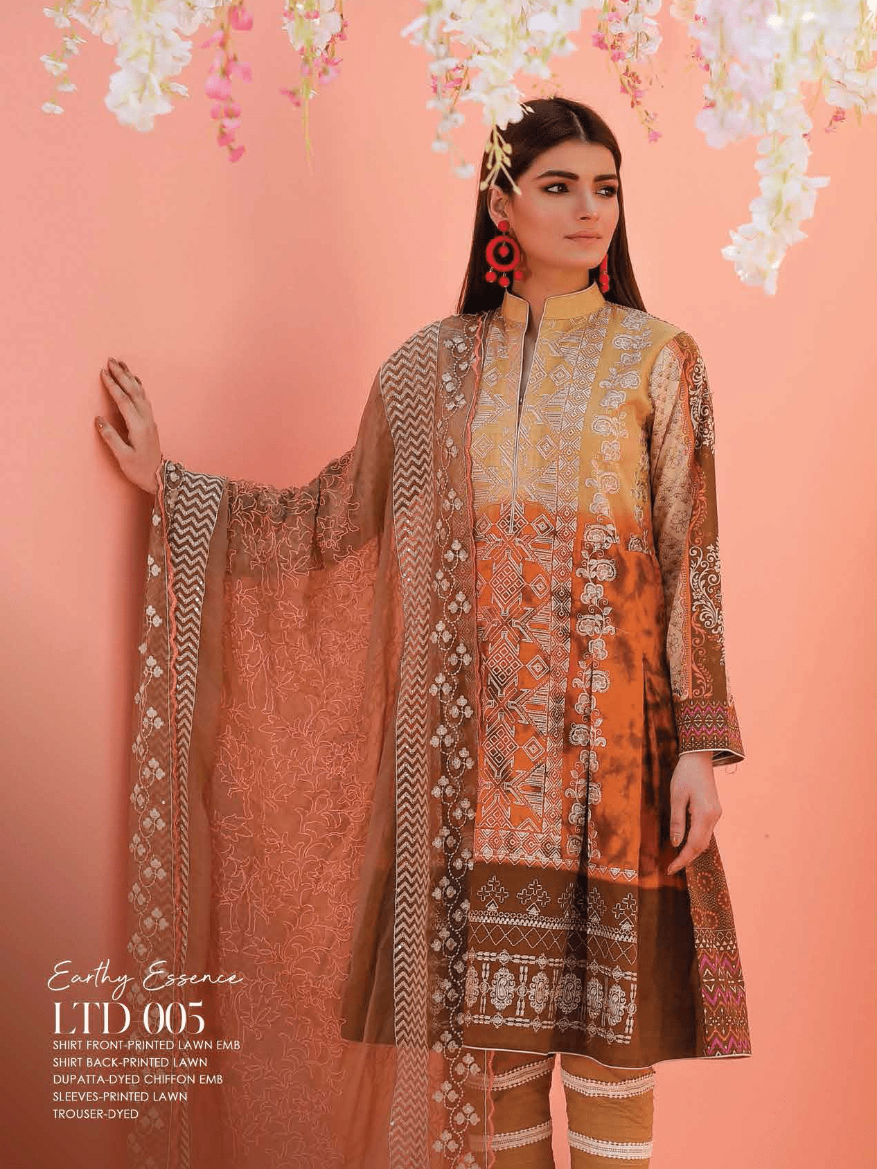 Lakhany Luxury Embroidered Lawn 2019 Unstitched 3PC Suit LTD 004 - FaisalFabrics.pk