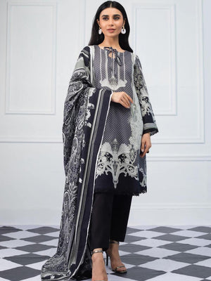 Salina by Regalia Textiles Black & White Printed Lawn 3pc Suit BW-01