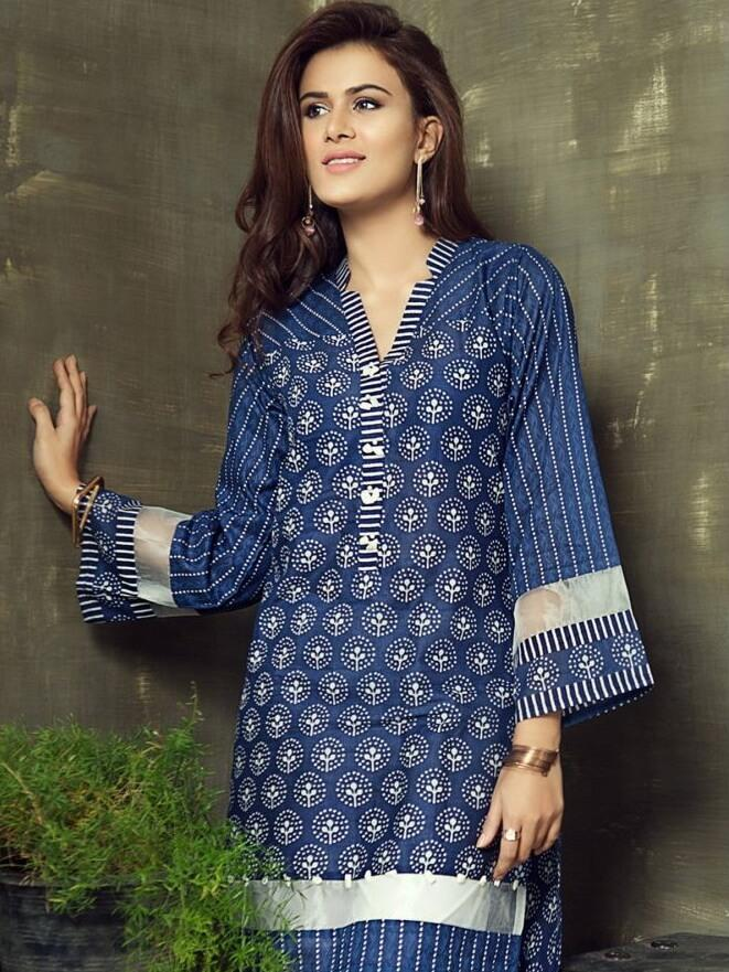 Gul Ahmed - GulAhmed Festive Premium Printed Lawn Shirt Summer Collection SL 261A - faisalfabrics-pk