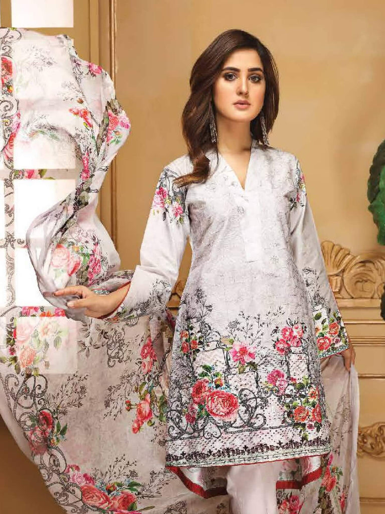 1fb8921eb8 Sanam Saeed 3PC Luxury Embroidered Lawn Suit Summer Collection SS 06 ...