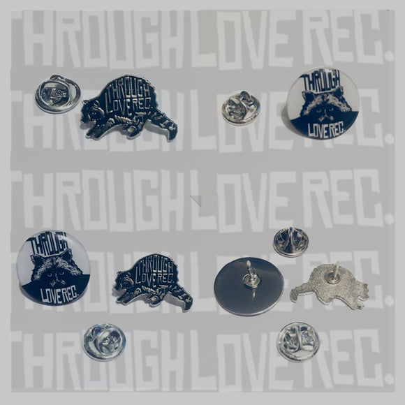 THROUGH LOVE REC ENAMEL PIN