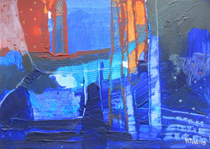 Abstract Ireland Study In Blue IV