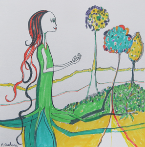 'As I Contemplate The Beauty Of The Earth' - Hand Painted Card