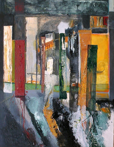 Contemporary Large Abstract Oil Painting by Irish artist Martina Furlong