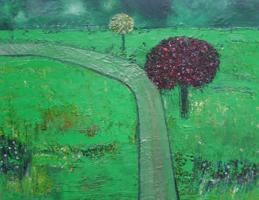 Green Is Still Good - original oil painting on canvas (H70xW90cm)
