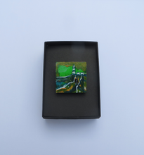 Load image into Gallery viewer, Hook In Green - Hand Painted Brooch (H3xW3cm)