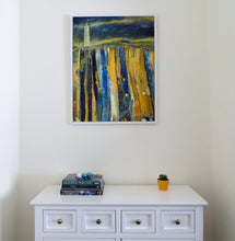 Load image into Gallery viewer, Hook In Yellow And Blue - original acrylic painting on canvas (H90xW70cm)