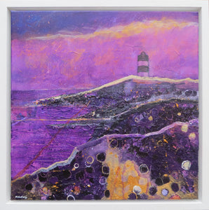 Hook Lighthouse, 2017 - original acrylic painting on canvas (H40xW40cm)