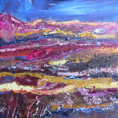 Landscape With Magenta, Blue And Brown