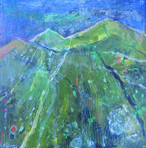 Landscape Study In Green And Blue