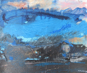 Landscape Study With Blue and Black 1