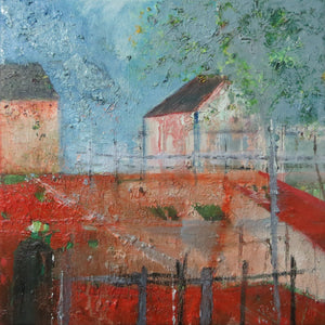Landscape With Red And Blue