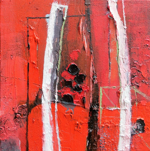 Little Red - original oil painting on canvas (H20xW20cm)