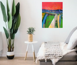 Over The Hill And Far Away - original oil painting on canvas (H60xW50cm)