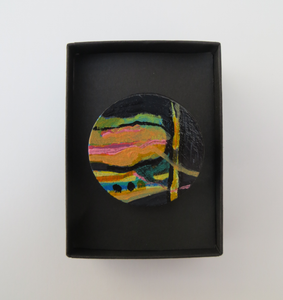 Reflections - Hand Painted Brooch (4cm diameter)