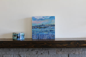Seascape In Blue, 2018 - original oil painting on wood (H20xW20cm)