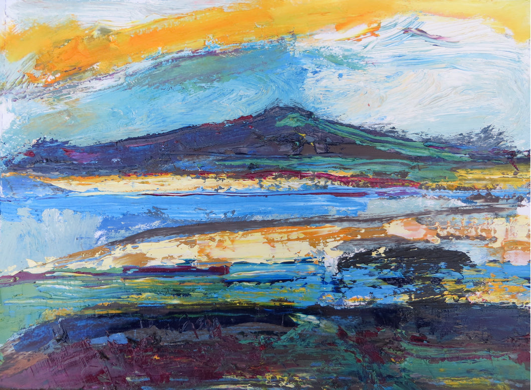 Abstract Ireland #7 'Seascape With Yellow And Blue'