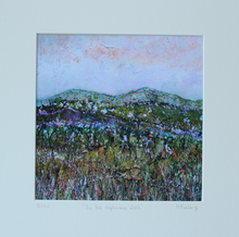 Load image into Gallery viewer, Irish landscape artwork fields mountains green by Martina Furlong contemporary Irish artist