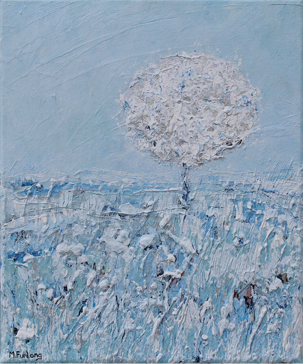 The Blue Scene - original acrylic painting on canvas (H30xW25cm)