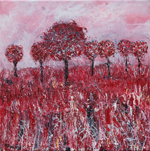 The Red Tree - original acrylic painting on canvas (H30xW30cm)
