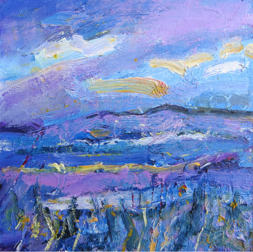 Landscape With Purple And Blue