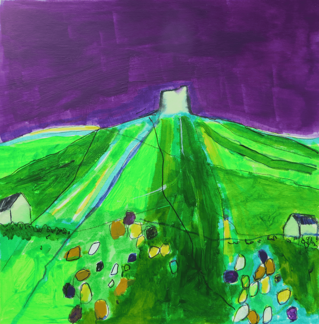 Martina Furlong - Contemporary Abstract and Landscape Artist Hand Painted Card Vinegar Hill - Hand Painted Card Irish art Colourful paintings
