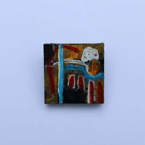 Martina Furlong - Contemporary Abstract and Landscape Artist Hand Painted Jewellery More Valuable Than Gold- Hand Painted Brooch (H3xW3cm) Irish art Colourful paintings