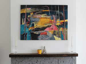 Martina Furlong - Contemporary Abstract and Landscape Artist Mixed Media Untitled 1, May 2020 Irish art Colourful paintings