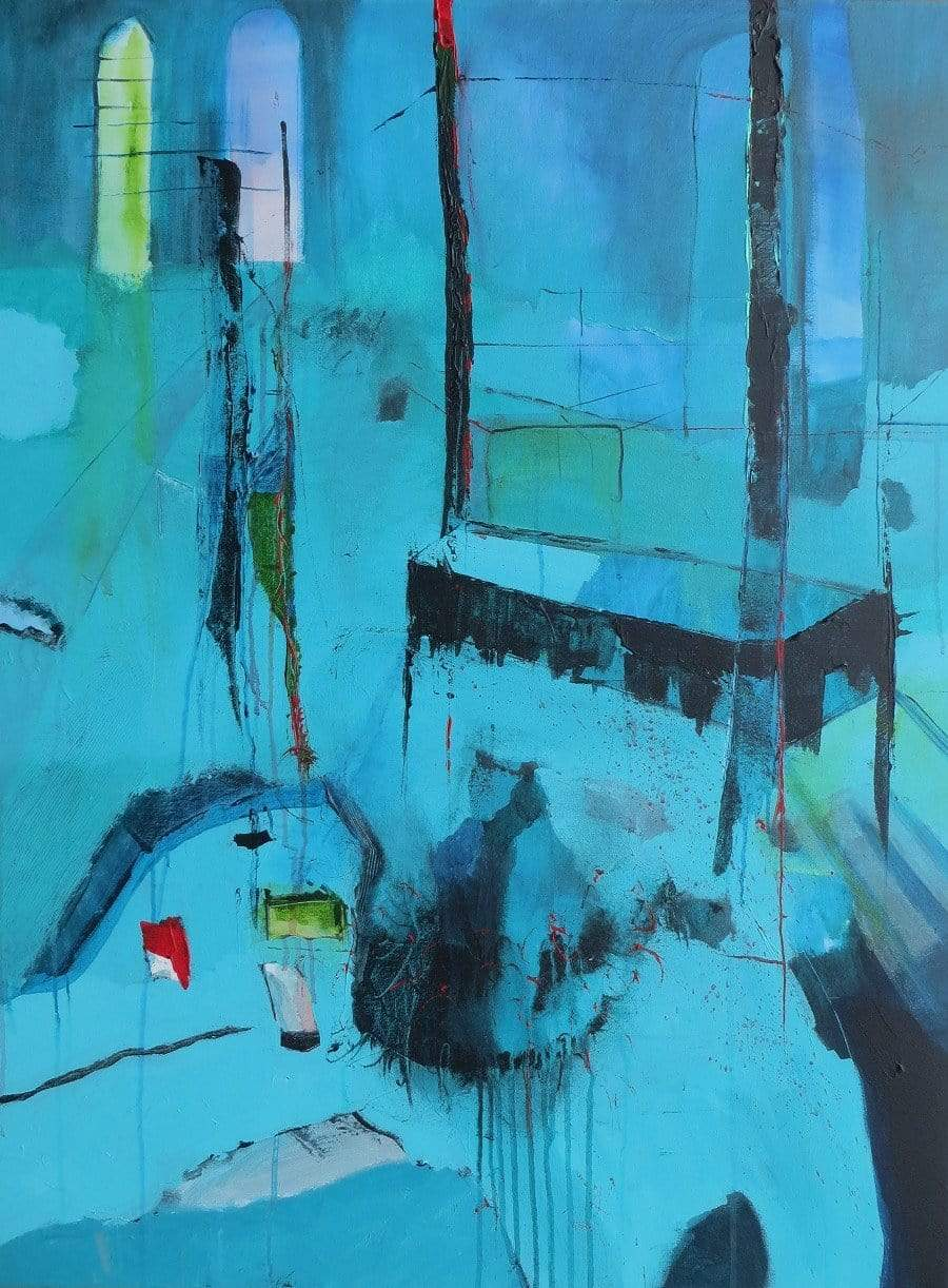 Martina Furlong - Contemporary Abstract and Landscape Artist Original acrylic painting You Were The One That Left Too Soon Irish art Colourful paintings