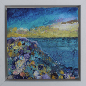 Martina Furlong - Contemporary Abstract and Landscape Artist Original oil painting An Imaginary Place I, 2018 - original oil painting on canvas (H20xW20cm) Irish art Colourful paintings
