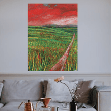 Load image into Gallery viewer, Martina Furlong - Contemporary Abstract and Landscape Artist Original oil painting The View From The Crossroads - original oil painting on canvas (H101xW76cm) Irish art Colourful paintings