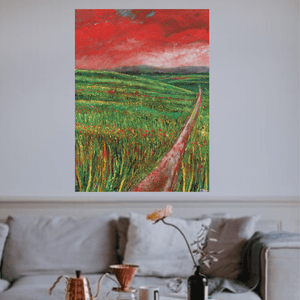 Martina Furlong - Contemporary Abstract and Landscape Artist Original oil painting The View From The Crossroads - original oil painting on canvas (H101xW76cm) Irish art Colourful paintings