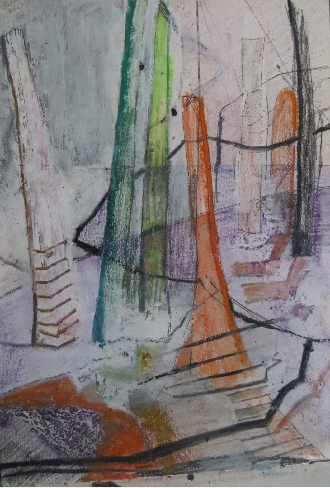 Martina Furlong - Contemporary Abstract and Landscape Artist Sketch Untitled Sketch Irish art Colourful paintings