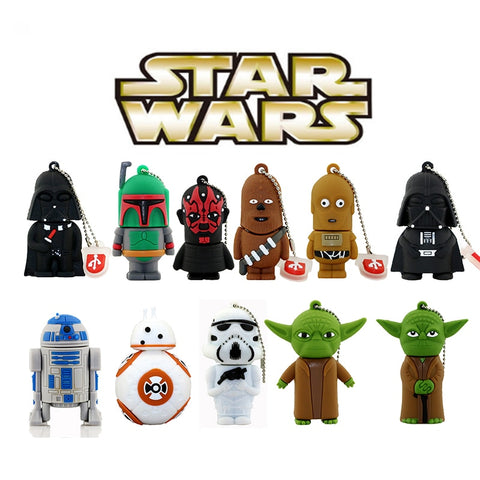 STAR WARS USB Pen Drive 4Gb 8Gb 16Gb 32Gb 64Gb 128Gb