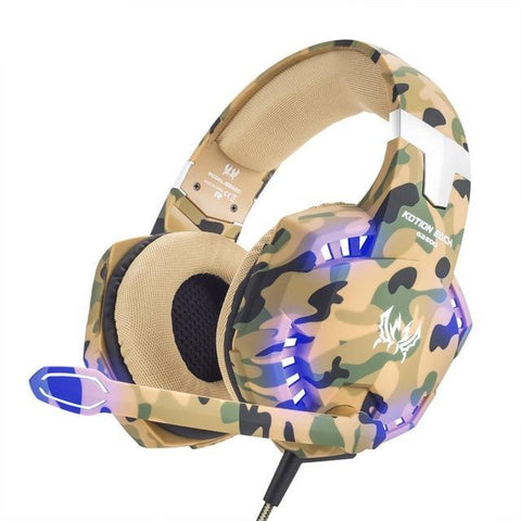 Auriculares Gaming  CAMUFLAJE con Micrófono PC PS4 XBOX ONE NINTENDO SWITCH