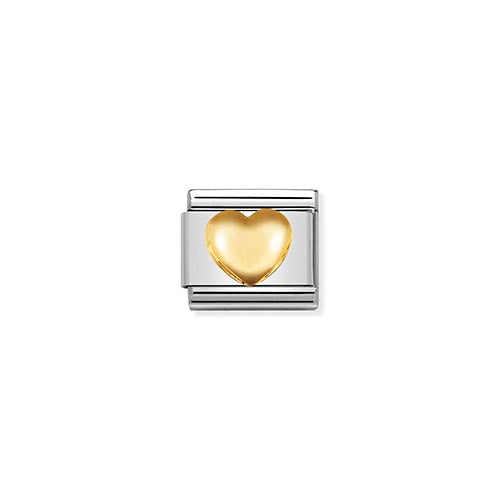Nomination Raised Gold Heart Charm