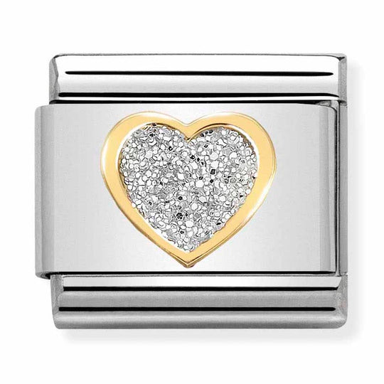 Nomination Glitter Heart Charm