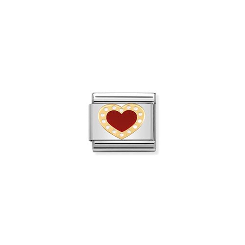 Nomination Gold Red Enamel Heart Charm