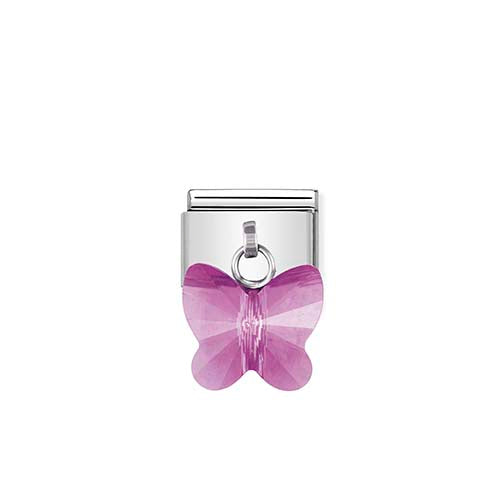 Nomination Purple Butterfly Drop Charm