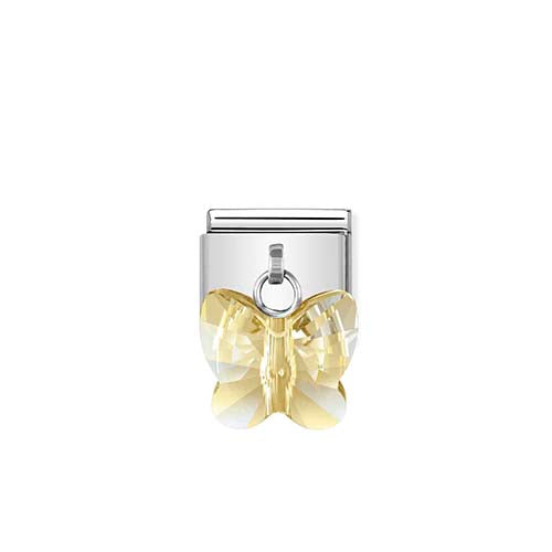 Nomination Yellow Butterfly Drop Charm