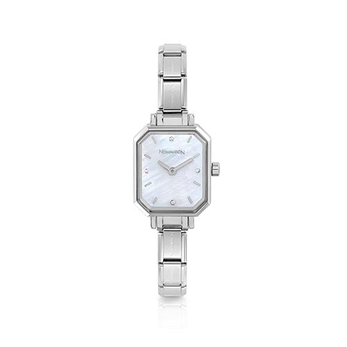 Nomination Mother Of Pearl Hexagonal Watch